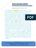 13 Programacion Toyota Yaris