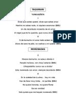 Letras Cancionero