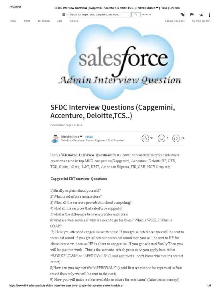 sfdc interview questions capgemini accenture deloitte tcs pdf
