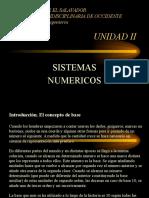 Presentacion Unidad II Sistemas Numericos