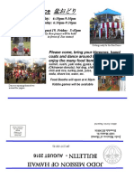 Jodo Mission Bulletin - August 2016
