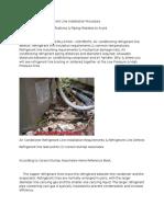 Air Conditioning Refrigerant Line Installation Procedure