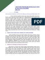 Penggunaan Metode Probabilistik Dan Non Probabilistik Dalam Analisis Human