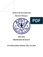 Plymouth Budget