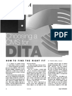 Choosing a Content Management System (CMS) for DITA