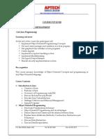 Core Java Course Content