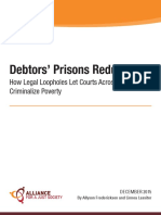 Modern equivalents to Debtors Prisons