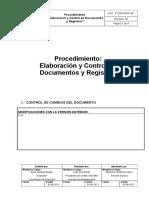 Procedimiento Elaboracion y Control de Documentos y Registros