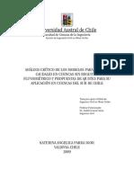 Caudales Sin Registro Chile