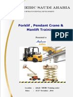 Forklift , Pendant Crane & Manlift Training