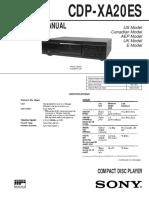 Hfe Sony Cdp-xa20es Service