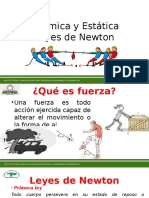 LEYES DE NEWTON 1RA 2DA Y 3RA