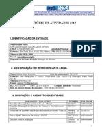 Relatorio de Atividades 2015  da ONG AMOR