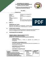 Sílabo Seminario de Investigación II, 2016 (Escuela de Post Grado UDH)
