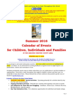 Calendar of Events - July 17, 2016