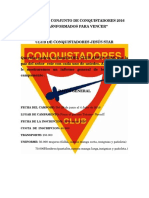 Informe Conquistadores
