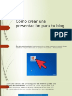 Como Crear Una Presentación Para Tu Blog