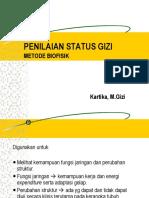 Penilaian Status Gizi metode Biofisik