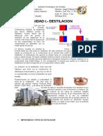 Unidad I Destilacion