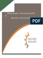 Indice Legislativo Primer Semestre 2016 22.07.2016