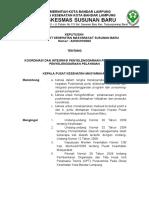Sk Koordinasi Dan Integrasi Pelayanan Pkm Ssn Baru