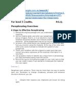 Paraphrasing-exercises Credits Level 3 June 1st