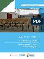 Cuadernillo LENGUAJE 5° 2014 vf