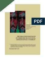 Pruebas Psicosociales en Derecho de Infancia Adolescencia y Familia