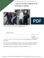 Entenda o Caso Que Levou Dez Suspeitos de Ligação Com Terrorismo à Prisão - Olimpiada No Rio _ Folha