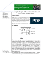 Descriptive Analysis of Modern Circuit Breakers and Over-current Protection Devices