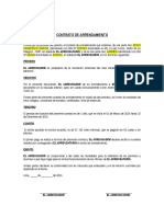 Contrato de Arrendamiento Resolución