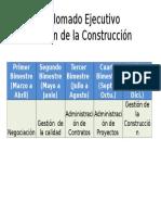 Diplomado Ejecutivo Gestión de La Construcción