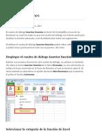 Insertar funciones en Excel