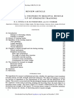 Physiological Changes in Skeletal Muscle as a Result of Strength Training