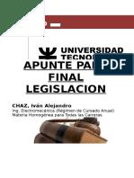 Apunte Legislacion CHAZ