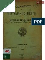 Reglamento de Capitanías de Puertos de la República del Paraguay, Asunción año 1898