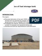 Fabrication of Fuel Storage Tank