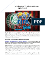 Prediksi Bola Palmeiras Vs Atletico Mineiro 24 Juli 2016