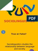 Sociolinguistics QUIZ