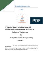 Java J2EE Training Report