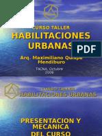 Curso Taller Habilitaciones Urbanas Tacna