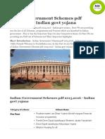 Govt Schemmes PDF