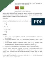 Frações Algébricas - Matemática - InfoEscola