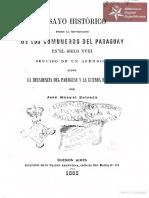 Ensayo Histórico sobre la Revolución de los Comuneros en el Paraguay en el siglo XVIII por José Manuel Estrada, Buenos Aires año 1865