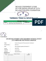 Method Statement for Instalation of CCTV Camera and Junction Boc Foundation