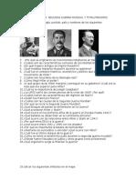 Cuestionario Segunda Guerra Mundial