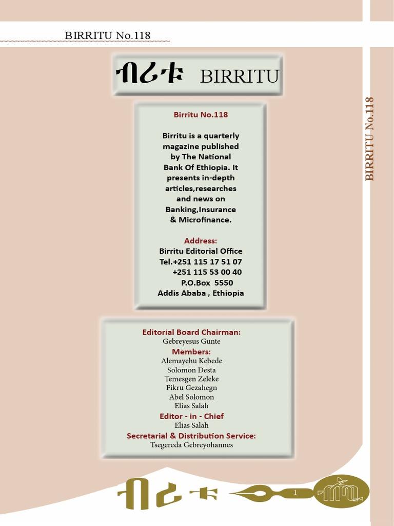 Birritu 118 pdf | Coffee | Ethiopia