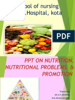 Powerpoint of Nutrtion,Nutritional Problems & Promotion