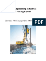 Civil Engineering Industrial Training Report (Piling and Road)