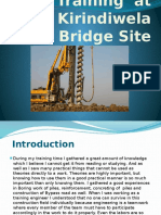 Civil Engineering Industrial Training Presentation (Piling Site)